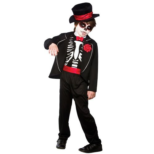 Boys Day Of the Dead Zombie Costume Walking Dead Halloween Zombie Fancy Dress
